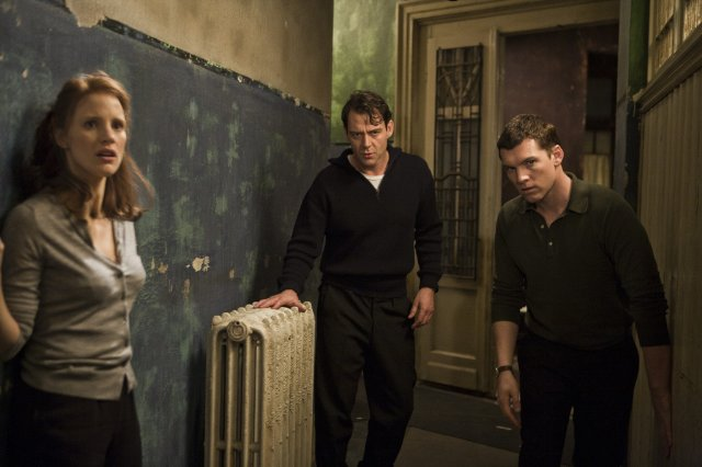 Rachel (Chastain), Stephan (Csokas) et David (Worthington)